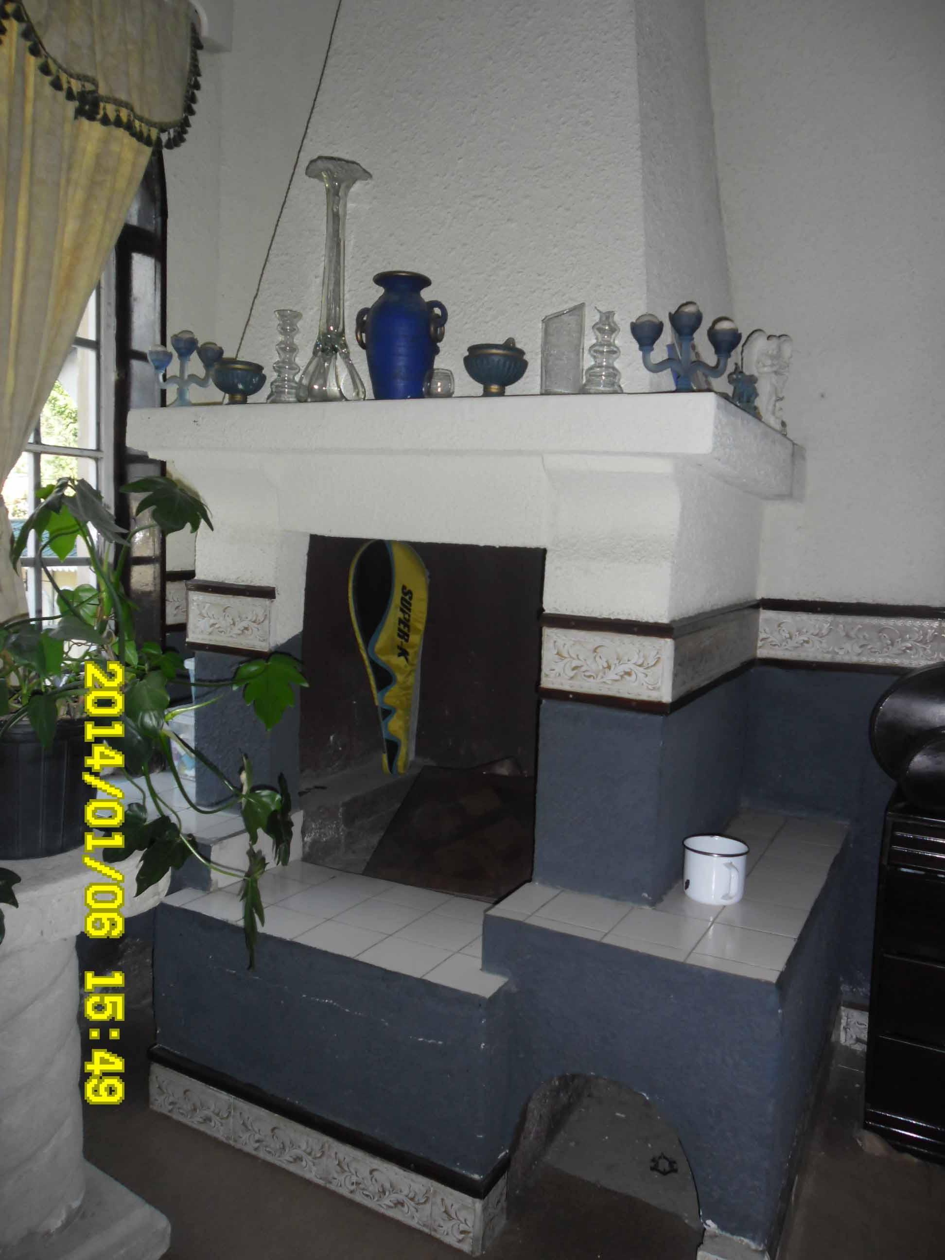 chimenea en habitacion master