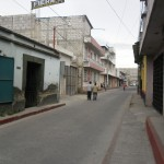 Carretera interamericana frente al inmueble
