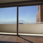 Vista del volcan desde balcón de apartamentos